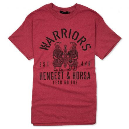 "Warriors ""Hengest and Horsa"" T-Shirt - Heather Red"
